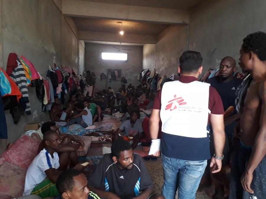 Centres de détention libyens de la région de Tripoli, Homs et Misrata. 2018. © MSF