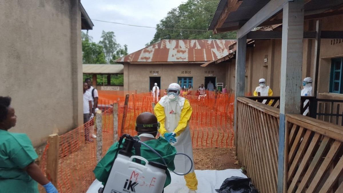 Epidémie d'Ebola à Mangina. République démocratique du Congo, août 2018. © Sylvie Michaud/MSF