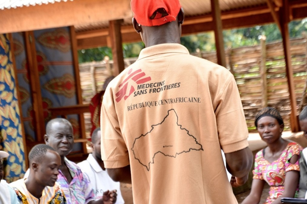 Les équipes de MSF à Bambari soutiennent l'hôpital de la ville, ainsi que plusieurs centres de santé dans et autour de la ville. République centrafricaine, juillet 2018. © Elise Mertens/MSF