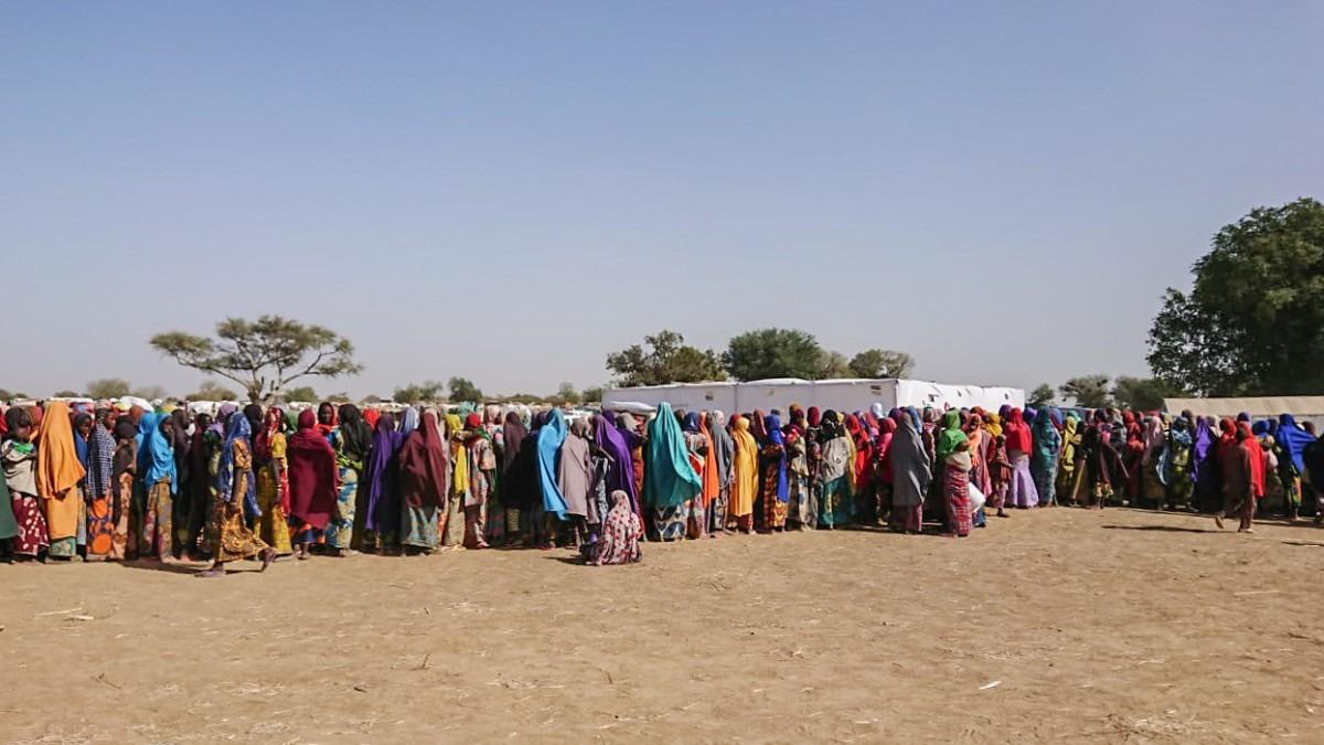 Plus de 35 000 Nigérians ont traversé la frontière à la suite d'une recrudescence de violences dans la ville de Rann et ses environs, dans le nord-est du Nigeria. Février 2019. © MSF