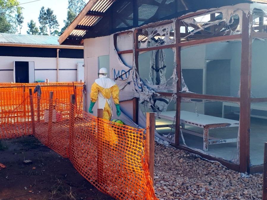 Le centre de Katwa photographié le lundi 25 février, au lendemain de l'attaque. © MSF