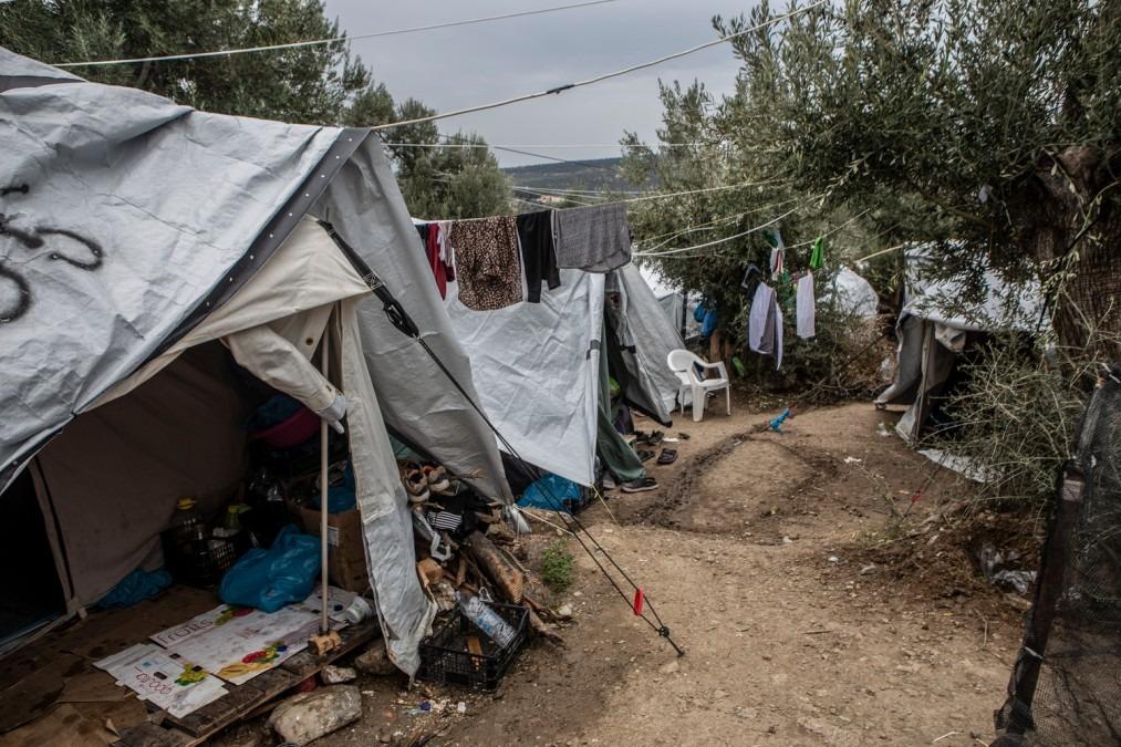 Migration. Camps. Moria. Grèce.