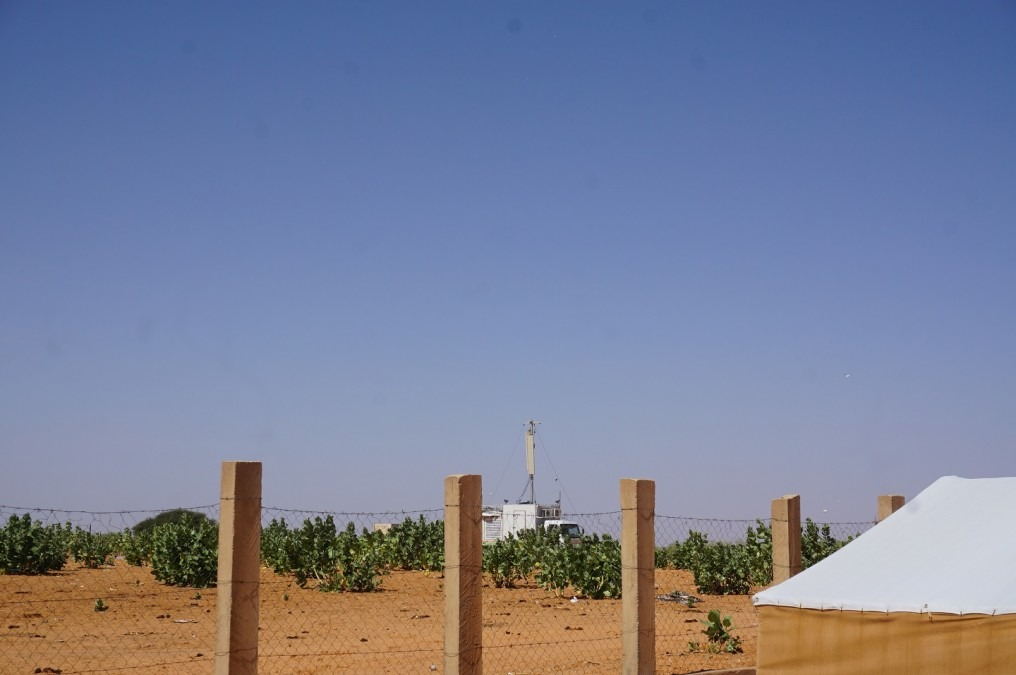 The cell tower outside Mbera illustrates the isolation of the camp. © Anita Williams / MSF