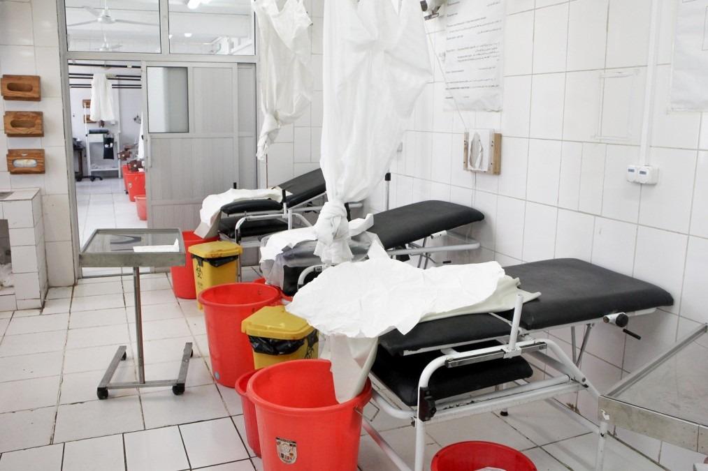 La maternité de MSF à Khost a ouvert ses portes en 2012 et est en mesure de faire face à des urgences obstétricales complexes et de pratiquer des césariennes vingt-quatre heures sur vingt-quatre . Afghanistan. Février 2017. © Pau Miranda/MSF