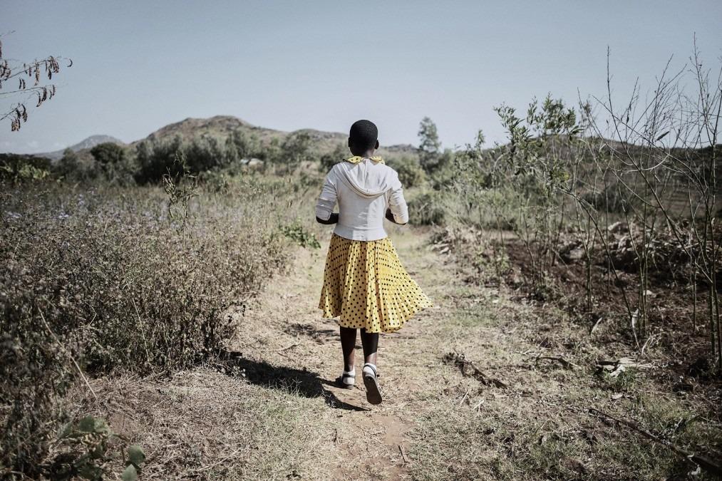 Anna Laison, 16 ans, séropositive au VIH et à la tuberculose, est une patiente de MSF. Malawi, juillet 2017. © Luca Sola