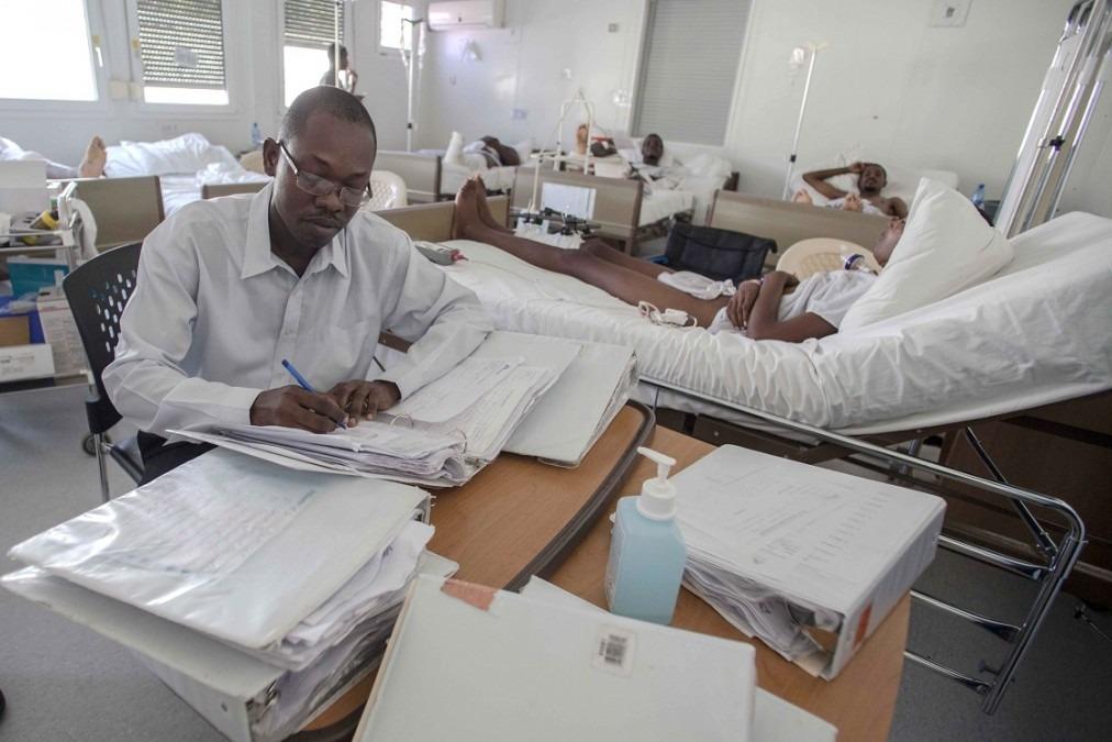 Une des chambres d'hospitalisation du centre Nap Kenbé, Tabarre. Haïti, novembre 2017. © Jeanty Junior Augustin