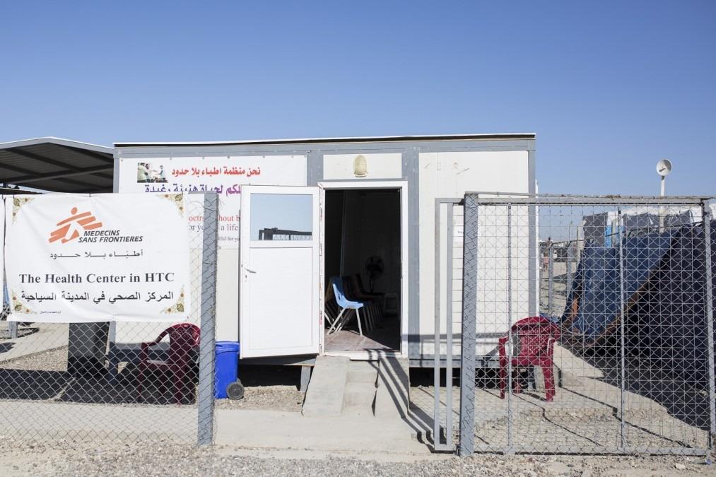 Das Camp Habbaniya, wo MSF für medizinische Grundversorgung, Langzeitbetreuung bei nichtübertragbaren Krankheiten und psychologische Betreuung sorgt. Dezember 2017. © Florian SERIEX/MSF