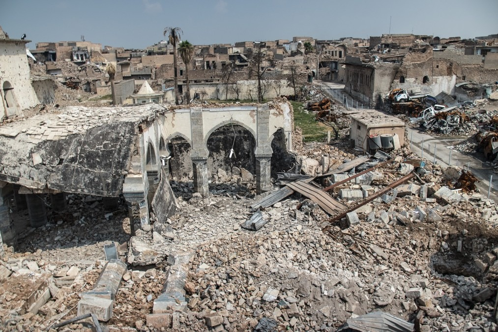 Mosul's old town experienced intense shelling, aerial bombing and attacks with improvised explosive devices during the conflict to retake the city from the Islamic State group, April 2018. © Sacha Myers/MSF