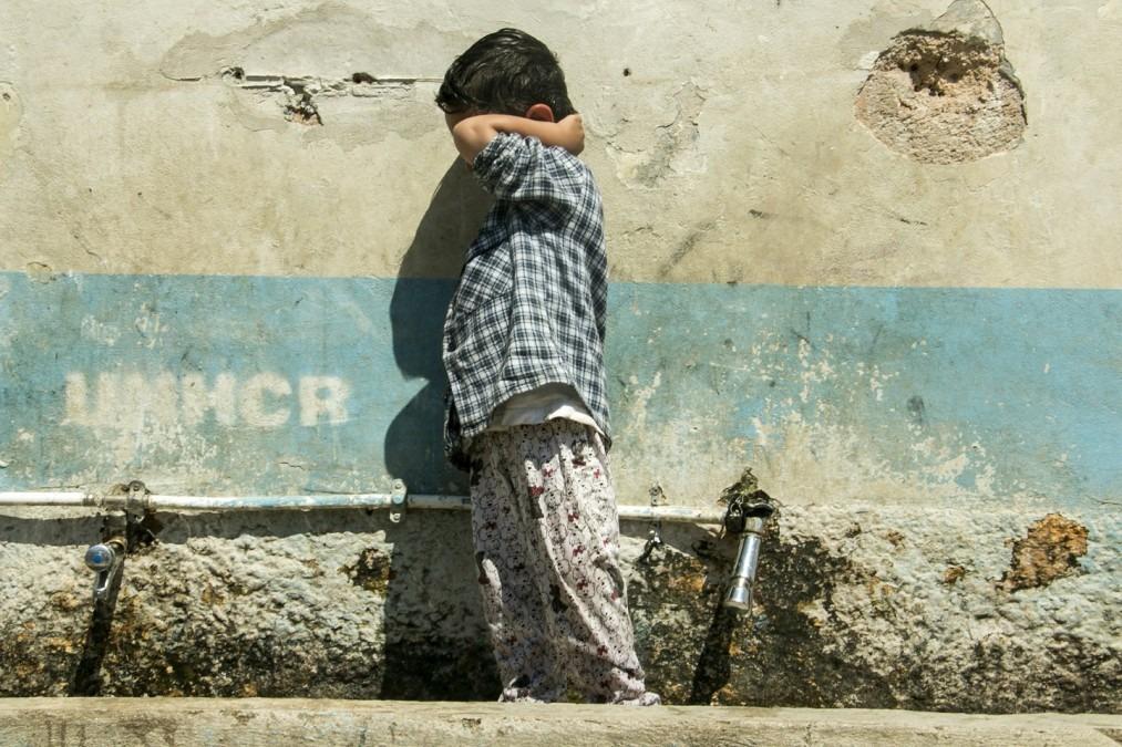 Un jeune garçon dans le camp de Moria. Grèce. Mai 2018. ©Faris Al-Jawad/MSF