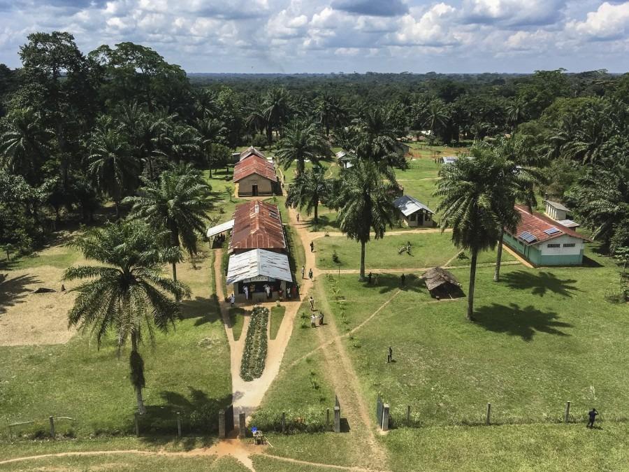 Luftaufnahme von Itipo in der Provinz Equateur, DRC. © Hugues Robert/MSF