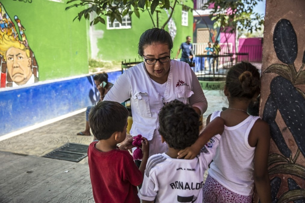 MSF medical, psychological and information activities at the shelter La 72. © Juan Carlos Tomasi