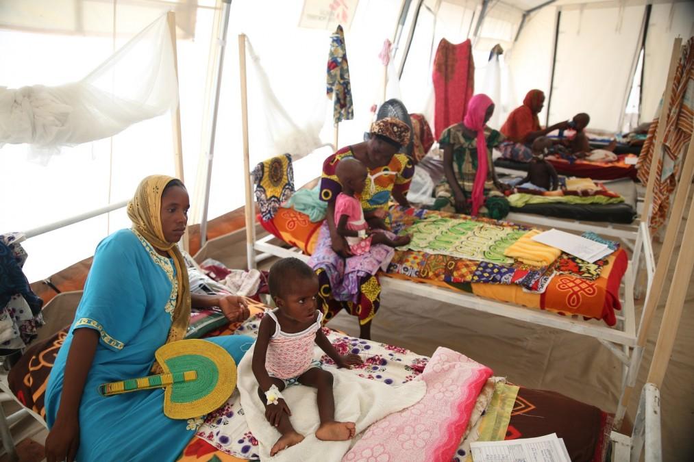 Vue générale de la salle d'hospitalisation. Tchad, août 2018. © Mohammad Ghannam/MSF