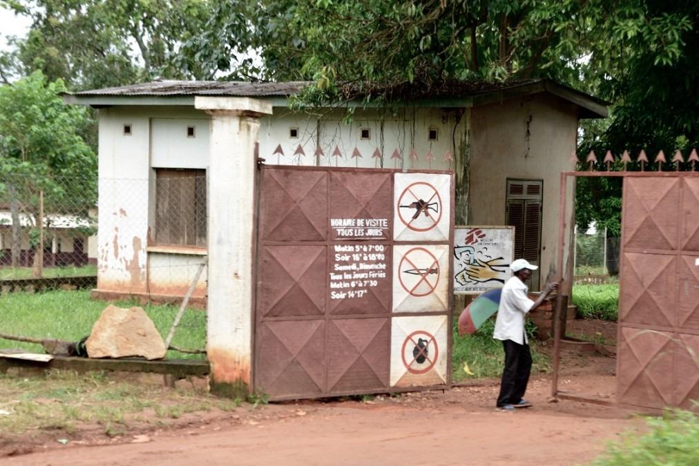 La recrudescence de la violence à Bambari a également eu un impact sur l'hôpital de la ville. République centrafricaine, juillet 2018. © Elise Mertens/MSF