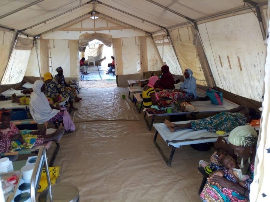 Centre de traitement du choléra à Dan Issa, dans la région de Maradi, au Niger. Août 2018. © Moctar Abass/MSF
