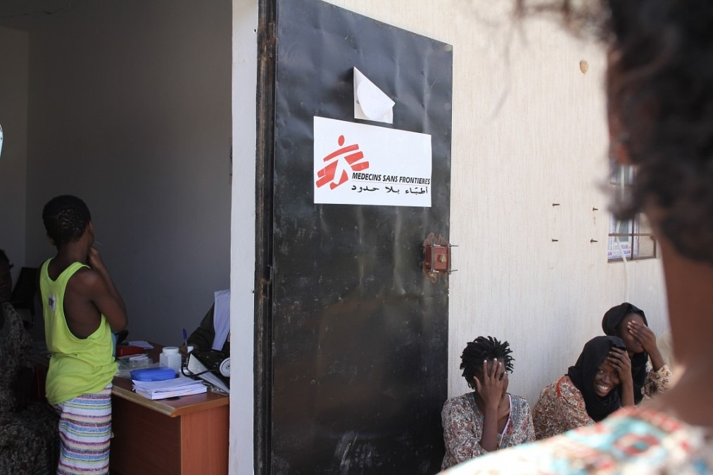 La salle de consultation MSF au sein du centre de détention. Libye, septembre 2018. © Sara Creta/MSF