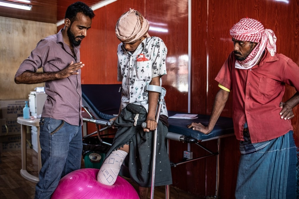 MSF Yémen Mocha kinésithérapie