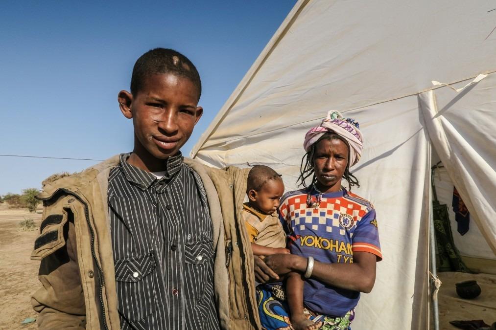 Dicko, 17 ans, a été attaqué par quatre hommes armés de machettes et d'une arme à feu. Burkina Faso. Janvier 2019. © MSF/Caroline Frechard
