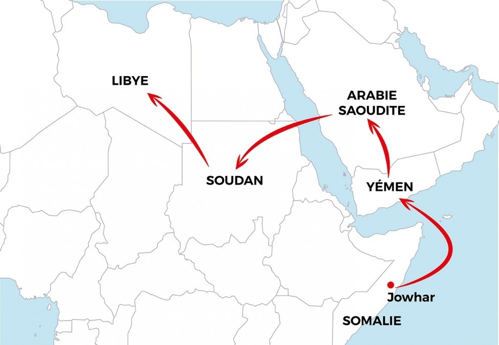 Asad Somalie migrant MSF