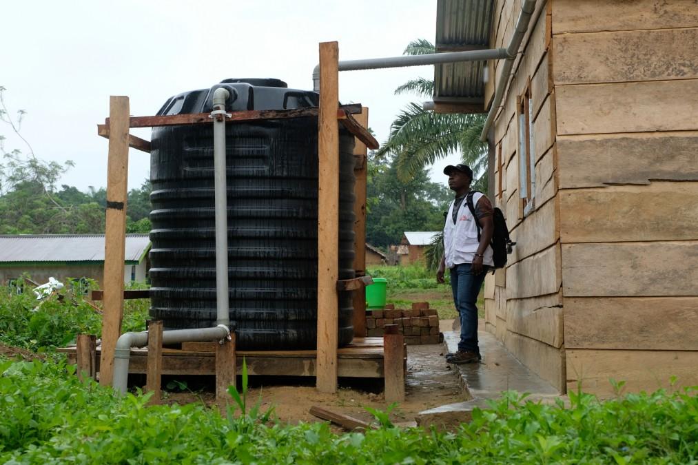 Water, sanitation and Hygiene, MSF, DRC, Ebola