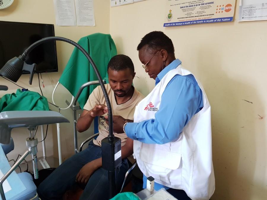 Cancer du col de l'utérus, MSF