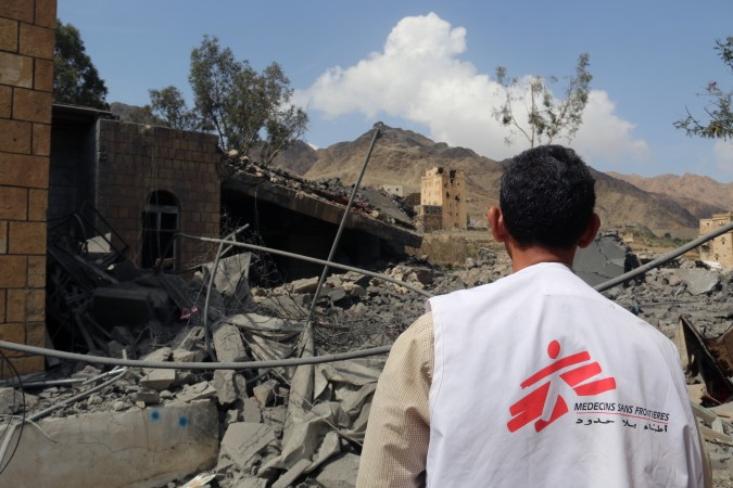 Miriam, project coordinator in Saada, went this morning Haydan, but could not enter the building because there were still bombs that had not exploded. Yemen ©MSF