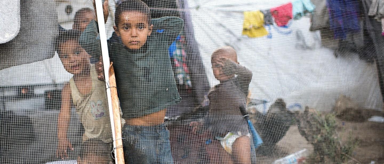 Des milliers de personnes en quête de sécurité continuent de risquer leur vie pour atteindre l'Europe. Grèce, mai 2018. © Robin Hammond/Witness Change
