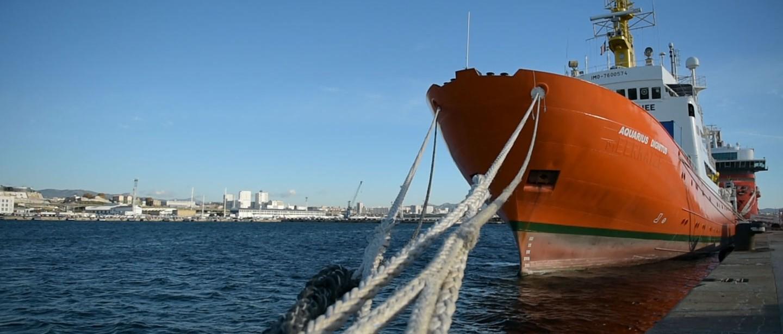 Mer Méditerranée. Aquarius. Opérations de recherche et de sauvetage.