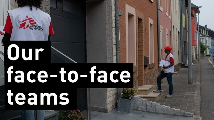 Face to face team for MSF Luxembourg